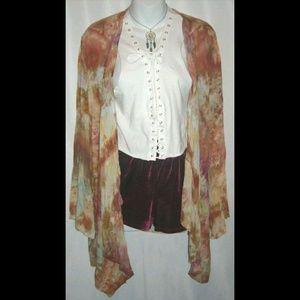 Gypsy & Magnolia Tie Dye Duster Bohemian Kimono OS